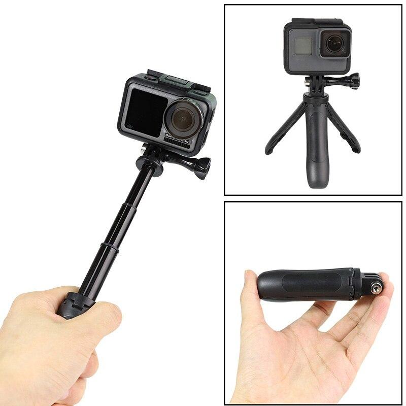 Poche Pôle Mini Bâton de Selfie + Poignée Extensible Trépied Pour GoPro Hero8 7 6 5 4 Session Insta360 Xiaomi Yi 4K EKEN SJCAM DJI OSMO