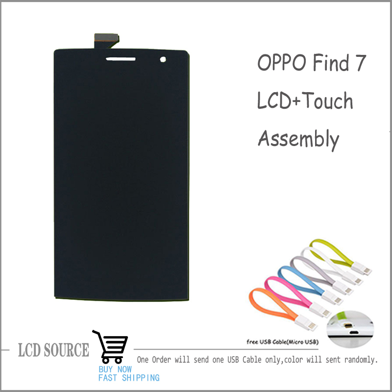 OPPO Find 7 X9007 LCD Display Touch Screen For OPPO Cellphone Replacement Parts With Gift