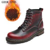 GRAM EPOS 2017 Women Fashion Vintage Genuine Leather Shoes Female Spring Autumn Platform Ankle Boots Woman