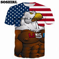 SOSHIRL Anime 3D Print T Shirt Summer Tops Cartoon Tee Fashion Unisex Men's T Shirt Brand Clothing Plus Size Dropship