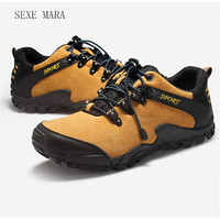 2017 Genuine Leather Outdoor Sports Shoes Sneakers Brand Running Shoes Travel Trekking Shoes Non Slip Trainers