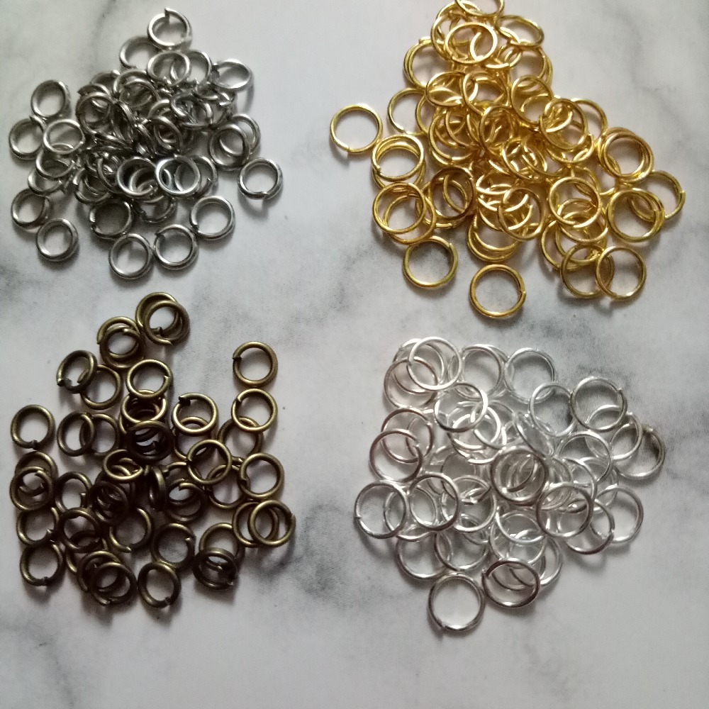 200pcs 9mm Jump Rings Open Connecctors Circle Metal Findings Accessories - 1x 200pcs Jump Rings Gold Hardware /& Accessories Industrial Hardware -