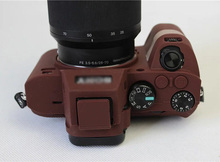 цена на Portable Silicone Camera Protective Cover Case for Sony A7II A7R Mark 2