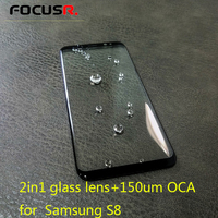 2in1 LCD Outer Glass Lens Cover Replacement With 150um OCA For Samsung S8 G950 Mobile Phone Touch Panel Repair Parts