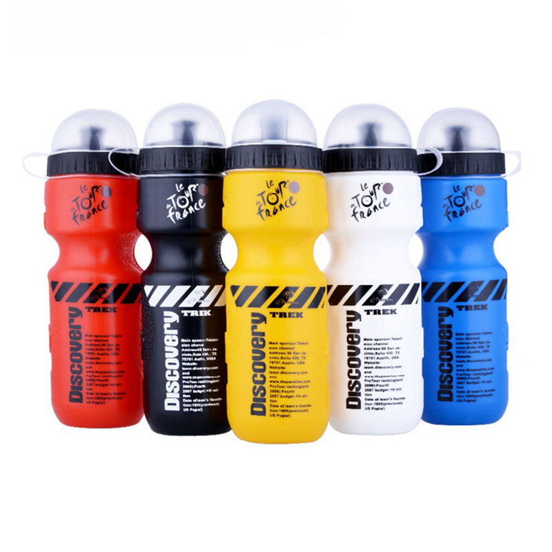 PVC Sports Water Bottle 680ml Bicycle With Lid Portable Bike For Mountain Outdoor Camping Supplies For Outdoor Sports Bike