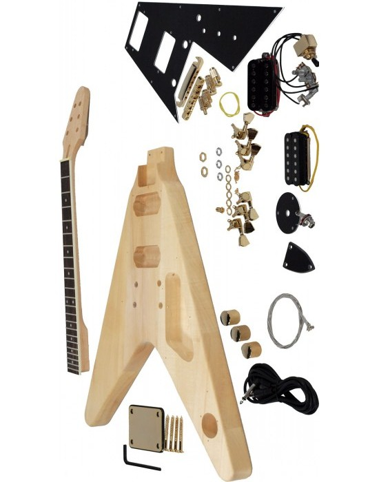 Factory Custom Shop DIY Electric Guitar DY-Y2 Kits Basswood  Body And Neck  Including All The Parts
