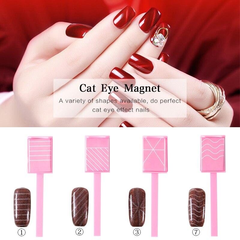 Nail Art Magnet Stick Cat Eye Gel Polish Varnish Line Strip Effect ...