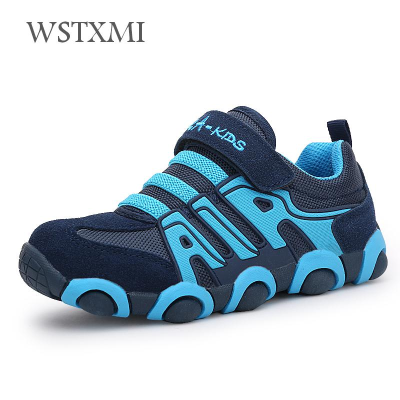 Children Shoes Boys Sneakers for Girls Casual Running Shoes Kids Flat Purple Sports Shoes Fashion School Soft Breathable Leather