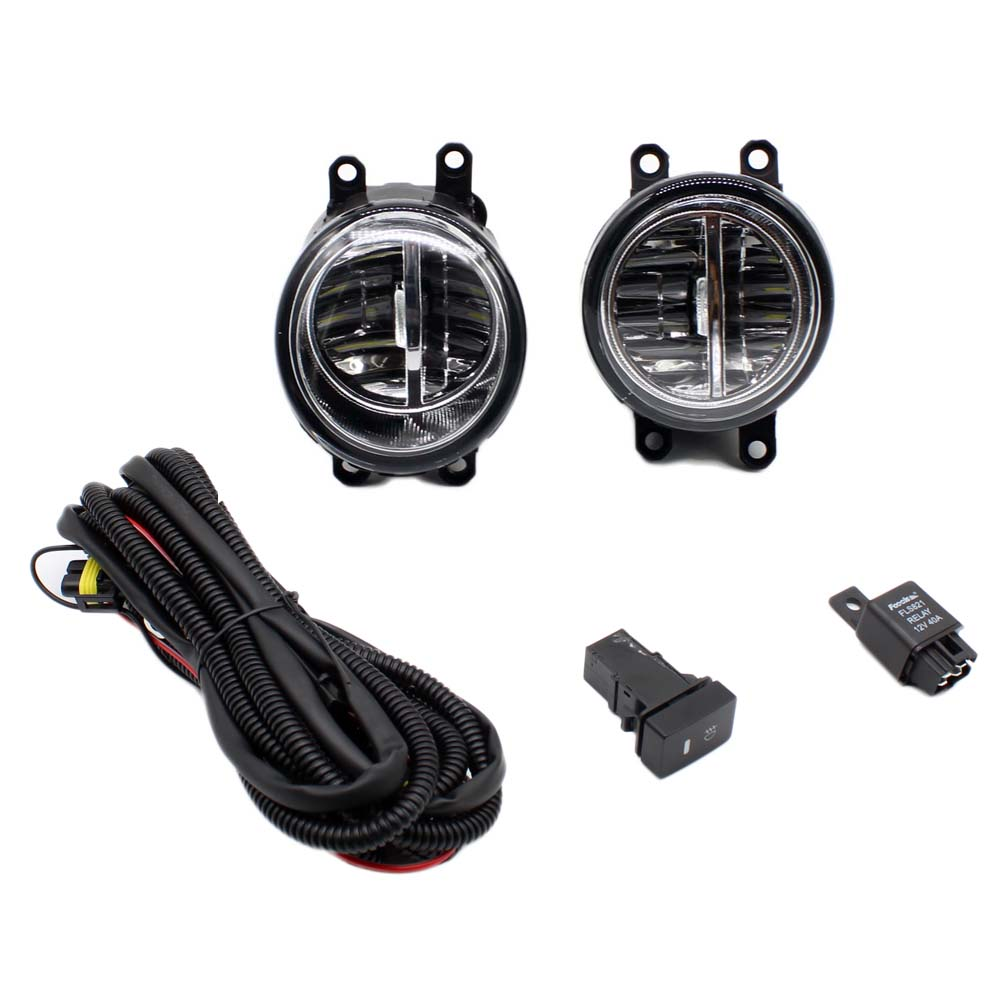 For DAIHATSU matter mpv-36 M4 06-11 H11 Wiring Harness Sockets Wire Connector Switch + 2 Fog Lights DRL Front Bumper LED LampFor DAIHATSU matter mpv-36 M4 06-11 H11 Wiring Harness Sockets Wire Connector Switch + 2 Fog Lights DRL Front Bumper LED Lamp