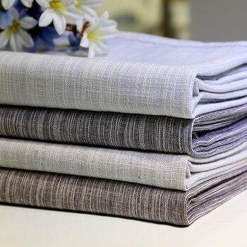 Senisaihon الكورية القطن الكتان مفرش بلون أزرق فاتح للأتربة الجدول القماش الزفاف مأدبة مستطيلة غطاء القماش
