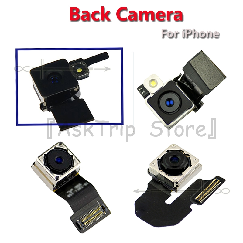 100% New Back Rear Main Camera Module Flex For IPhone 4 4S 5 5S 5C 6S 6 Plus High Quality  Ribbon Cable Replacement Repair Parts
