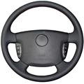 Black Artificial Leather Car Steering Wheel Cover for Ssangyong Actyon Kyron