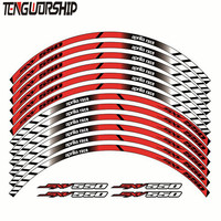 12 X Teng Worship Thick Edge Outer Rim Sticker Stripe Wheel Decals FIT ALL aprilia sxv550 SXV 550