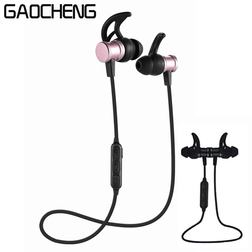 GAOCHENG Headset Metal Magnetic Earphone Bass Sound Music for Phone In-Ear Sport Earphone for iPhone Xiaomi Samsung Stereo Mic 3 5mm in ear cloth wire headset earphone music headphone without mic for mp3 iphone samsung mobile phone watch moive for mp4