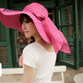 straw beach sun hat Wide Large Brim Floppy Beach Hat Sun Straw Hat Cap Women