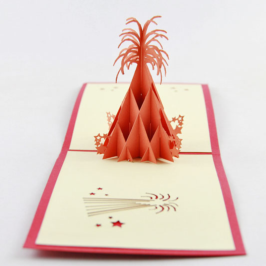 Pop Up Card Fireworks 3D greeting card congratulations card  floral fireworks iclebo pop