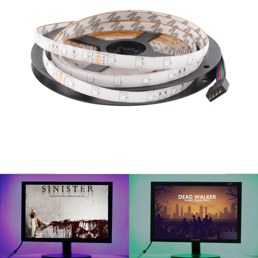 12 V Led Strip Light SMD 2835 RGB 12v Waterproof 5M 60LED/M RGB Led Color Strip Tape Lamp Diode Ribbon Tape Rope Stripe Fleible