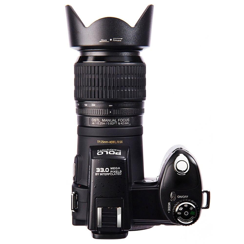 JOZQA HD POLO D7100 Digital Camera 33Million Pixel Auto Focus Professional SLR Video Camera 24X Optical Zoom Three Lens 2