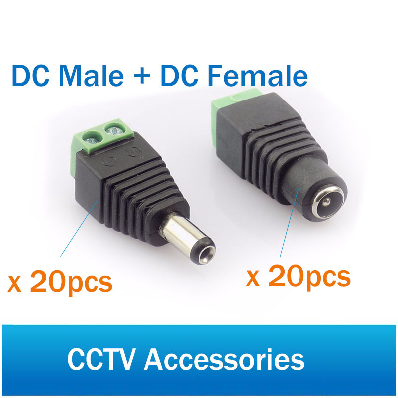 Female Male DC Connector Coaxial DC Power Cable Male Plug Female Plug Connector for CCTV Camera Video BalunFemale Male DC Connector Coaxial DC Power Cable Male Plug Female Plug Connector for CCTV Camera Video Balun