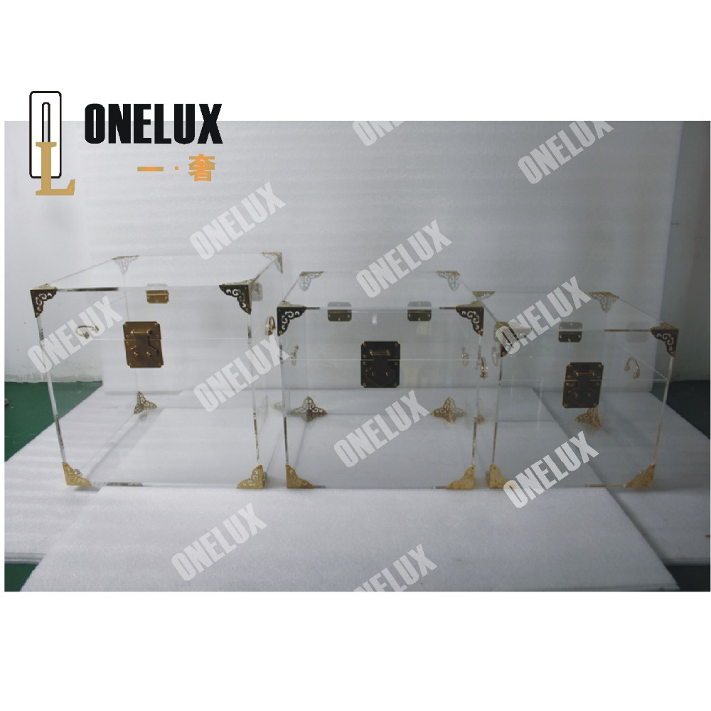 3pieces/lot) All purpose Used Clear Acrylic Trunk Set,Perspex ...