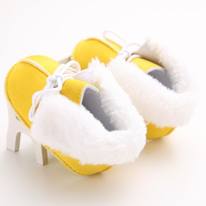 Raise Young Winter Warm Baby Girl First Walkers Cotton Soft Soles Non-slip Toddler Boy Booties Newborn Infant Crib Shoes 0-18M