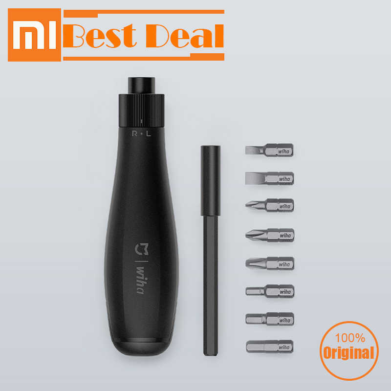 Original xiaomi mijia Wiha 8 in 1 ratchet screwdriver home high precision bite cartridges screwdriver repair tools smart home