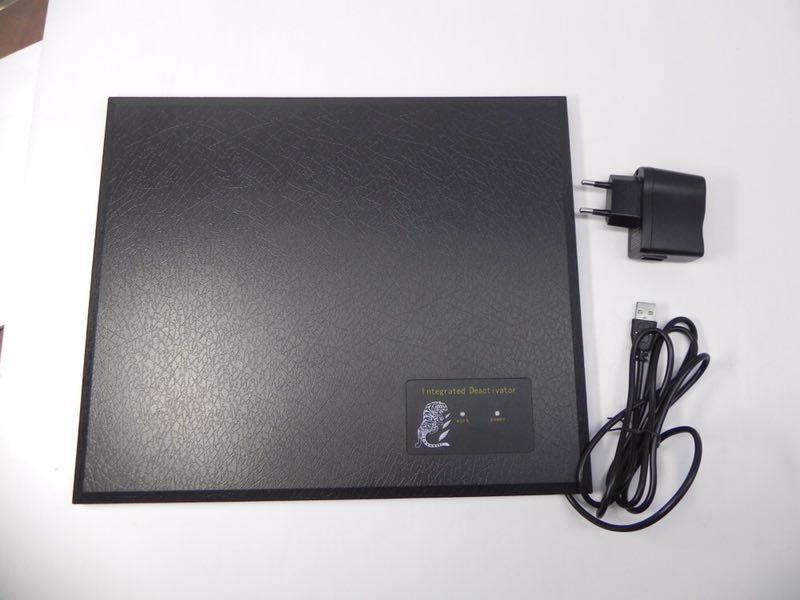 Decodificador 8.2 mhz eas rf etiqueta macia eas desativador com verde, vermelho de luz e som