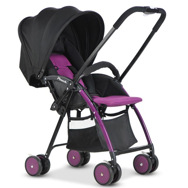 Pouch luz bebé cochecito del paraguas niño plegable portátil de dos vías del coche bb