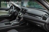 ABS carbon fiber hydrographics transfer printing car interior decorative covers frames trims for HONDA New Civic 10 2016 2017