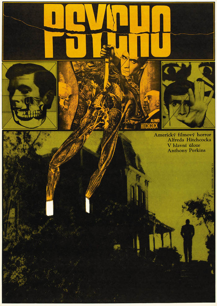 1960 Decor psycho 1960 alfred hitchcock rare print movie art wall decor