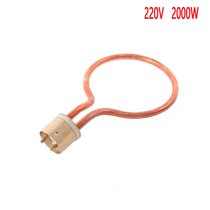red copper electric heat tube for medical autoclave, circular shape heating element for sterilizing pan torx shape dn50 heating elements for soup bucket pot cinquefoil type 2 thread electric heat tube for cooker