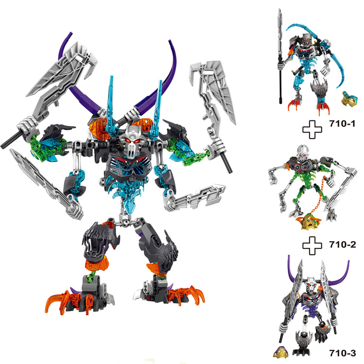 Bevle BionicleMask of Light XSZ 711-1 Children's Fit Robot Bionicle Building Block Brick Toy Compatible with Lepin Bionicle