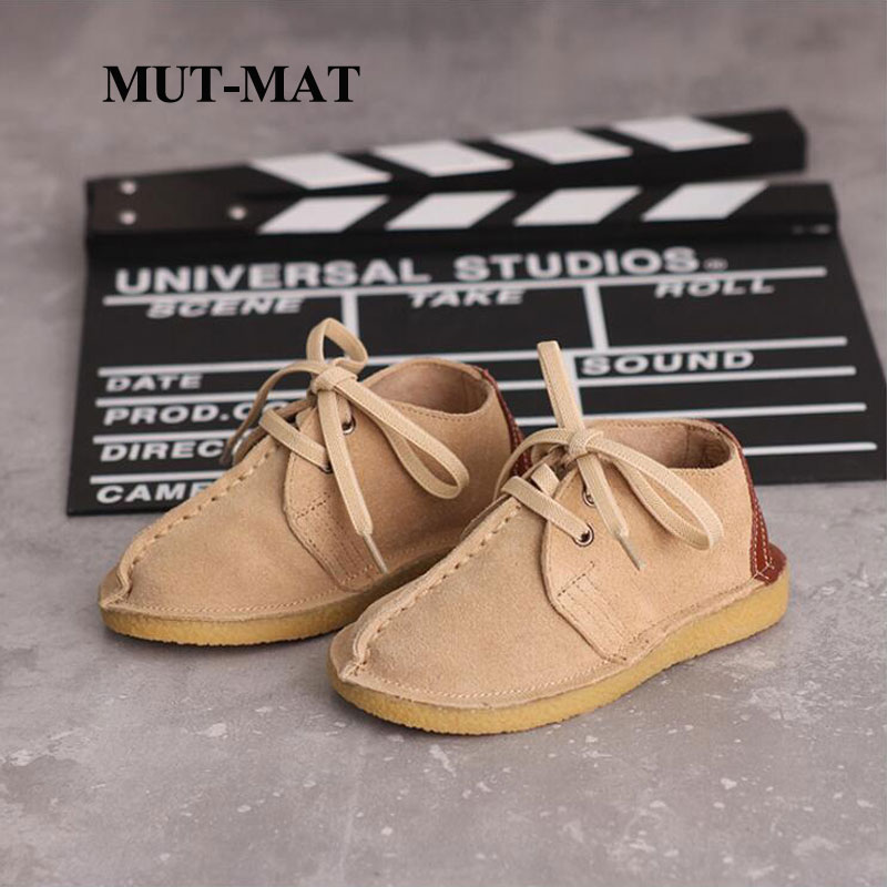 Children's Casual Shoes Autumn New Boys And Girls Fashion Shoes Low-top Leather Baby Soft Bottom Shoes