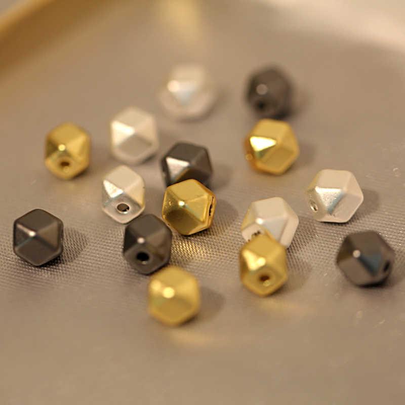 Miếng Đệm Hạt Trang Sức Làm Cho Hạt Đá Tự Nhiên Bạc Đính Hạt Vàng Perles Pour La Chế Tạo De BIJOUX May Mắn Vận Tải Đính Hạt