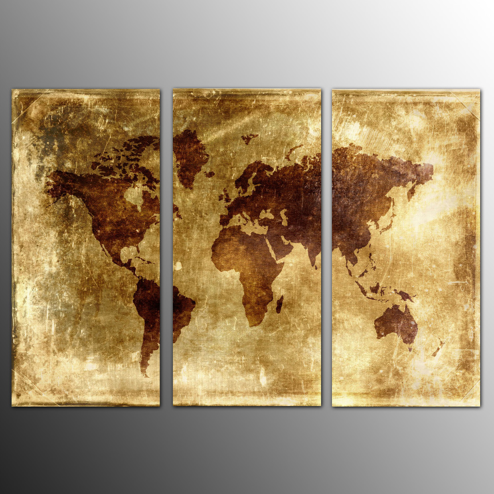 Fancy World Map Wall Decoration Frieze - Art & Wall Decor ...