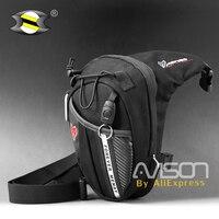 Hommes et femmes moto rider chevalier racing jambe sacs Taille Pack voyage sports de plein air mobile téléphone sac paquet fait de toile