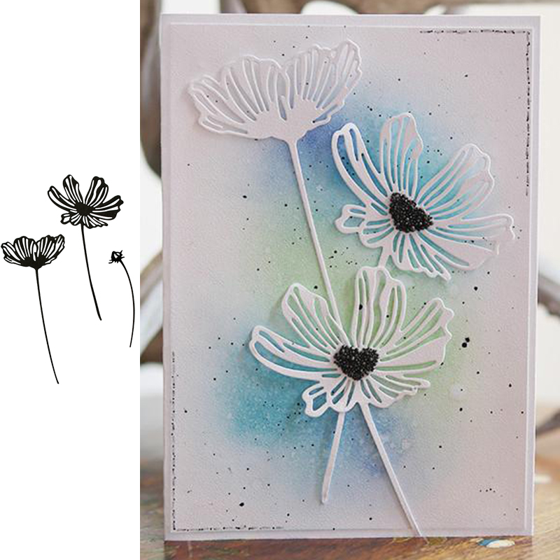 Lacy Poppies Metal Cutting Dies