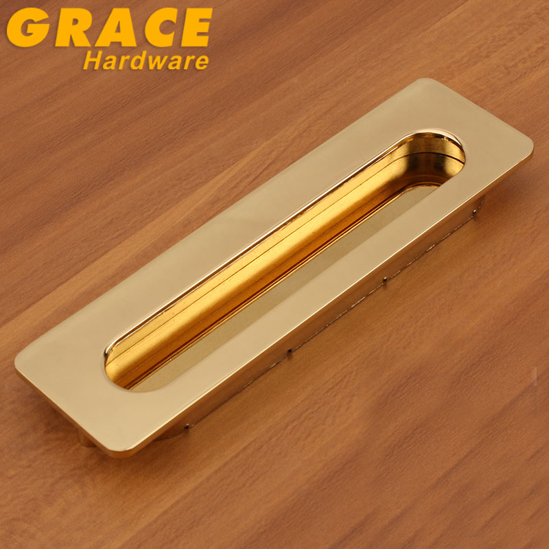 Home Slotted Drawer Dark Handle Invisible Cabinet Handles Furniture Knobs (C.C:128mm,L:176mm)