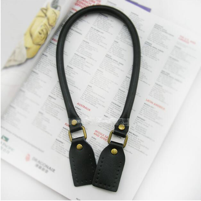 2pcs High Quality Genuine Leather Bag Handle Split PU Leather Shoulder Bag Strap DIY Handbag Belt Handle Accessory KZ0004