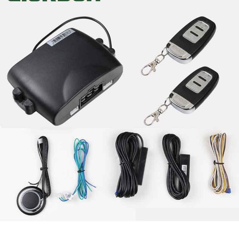 Système d'alarme de voiture PKE automatique sans clé entrée à distance Starline moteur 2 télécommandes pousser serrure centrale pour Mazda Toyota démarrer arrêter