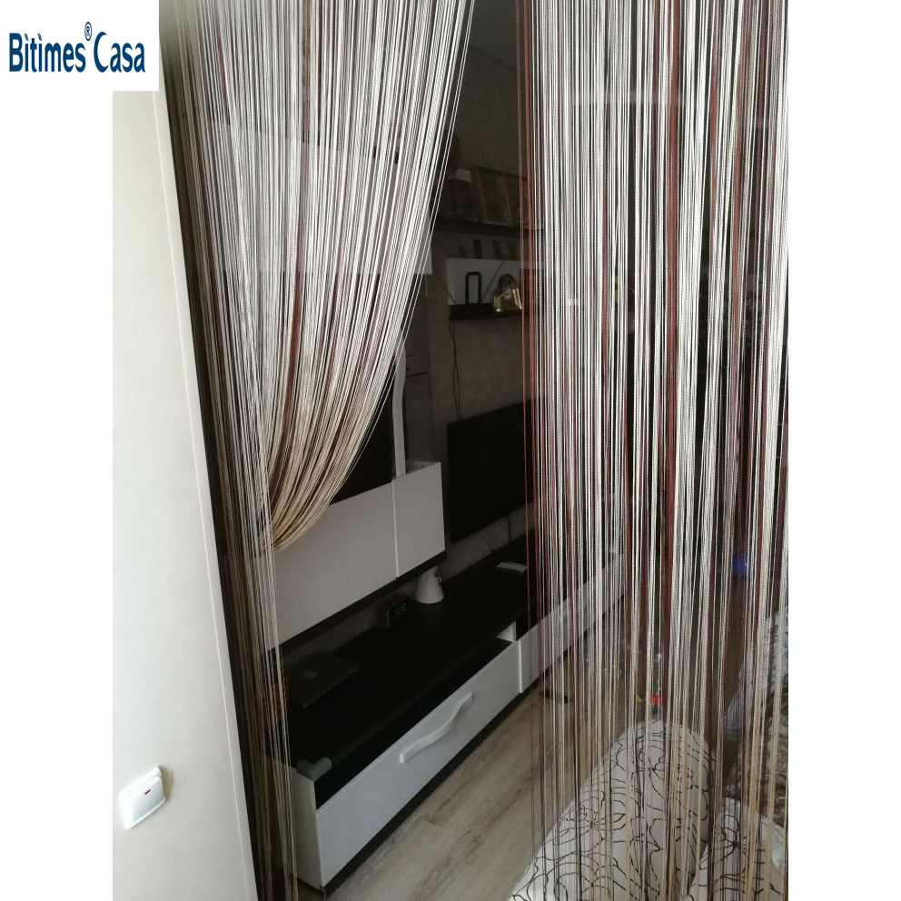 solid color decorative string curtain 300 300CM black white beige classic line curtain window blind vanlance room divider in Curtains from Home Garden