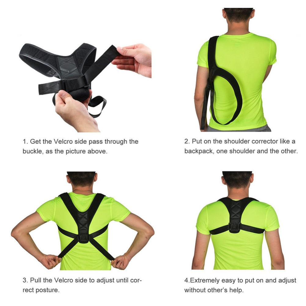 Profesional Adult Children Adjustable Back Hunchback Belt Brace Posture Corrector Perfect Back Curve Tool Kit
