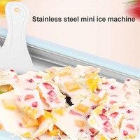Instant Ice Cream Maker Yogurt Sorbet Gelato Ice Roll DIY Maker Pan for Kids Macchina per lo yogurt fritto H99F