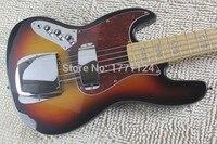 . Top Quality hurtownie J Jazz bass Sunburst leworęczny Electric Bass Guitar w magazynie