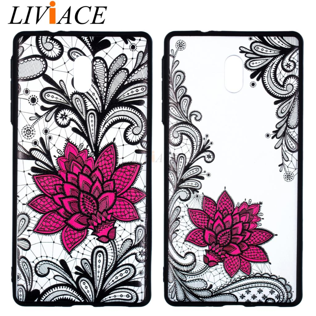 Relief lace Flower Pattern tpu Case For <font><b>NOKIA</b></font> 3 5.0