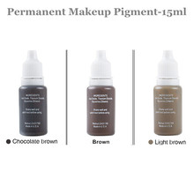 3 Pcs/Lot Permanent Eyebrow Lip Eyelash Makeup Pigment 1/2OZ 15ML Tattoo Ink Set Micro Pigment Cosmetic Color Tattoo Supplies