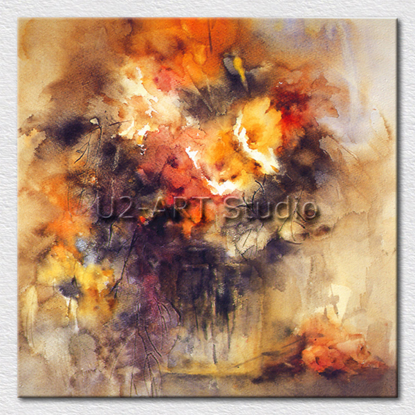 best selling oil painting abstract canvas pictures on the hotel room