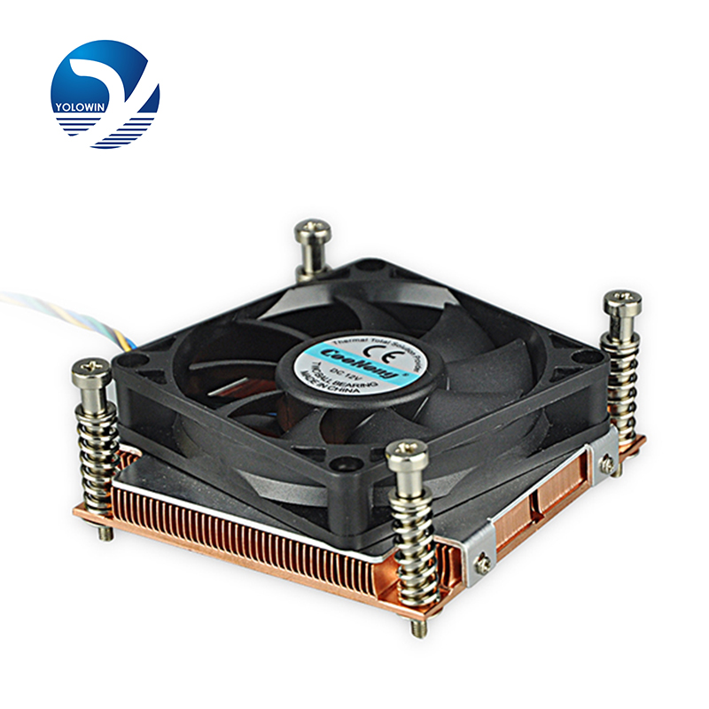 Professional Computer Case Heatsink 1U Active Solutions Technology Installs Way Fan Two Ball Bearing 4 Pins PWM Function D6-10 new 3u ultra short computer case 380mm large panel big power supply ultra short 3u computer case server computer case