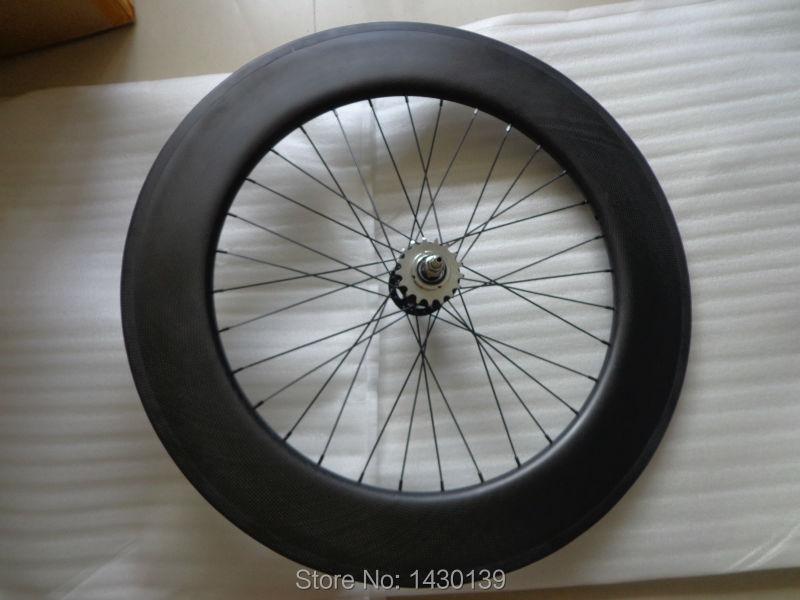 1 пара 700C 88 мм трубчатый обод велосипедная Трансмиссия углерода колесная 3 K Полный колесная пара из углерода с фиксированной Шестерни конце