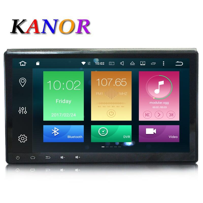 KANOR Android 8.0 Octa base 4G + 32G 10.1 pouce Double 2 din voiture GPS DVD Lecteur Bluetooth Stéréo Sat Nav RDS WIFI Audio multimédia